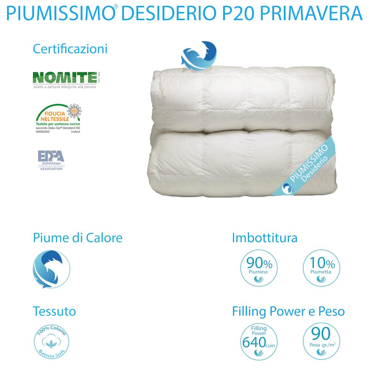 9868e40894 PIUMINO DESIDERIO P20 - PIUMINO 90% -